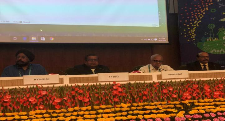 Chairman CWC during session on Flood Management- Future Challenges and Strategies at IWW-2019