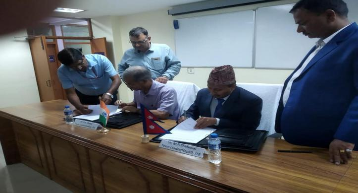 Signing of minutes of 16th meeting of JTE between Nepal and India by respective Team Leaders