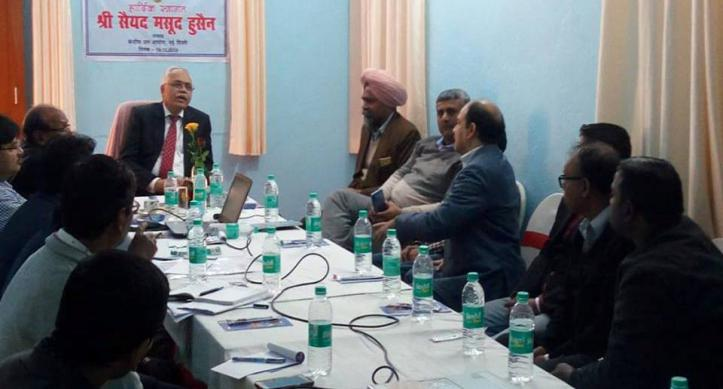 Review Meeting taken by Chairman, CWC